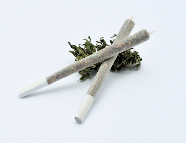 Joints, Small cannabis joints, pinner joints, marijuana flowers