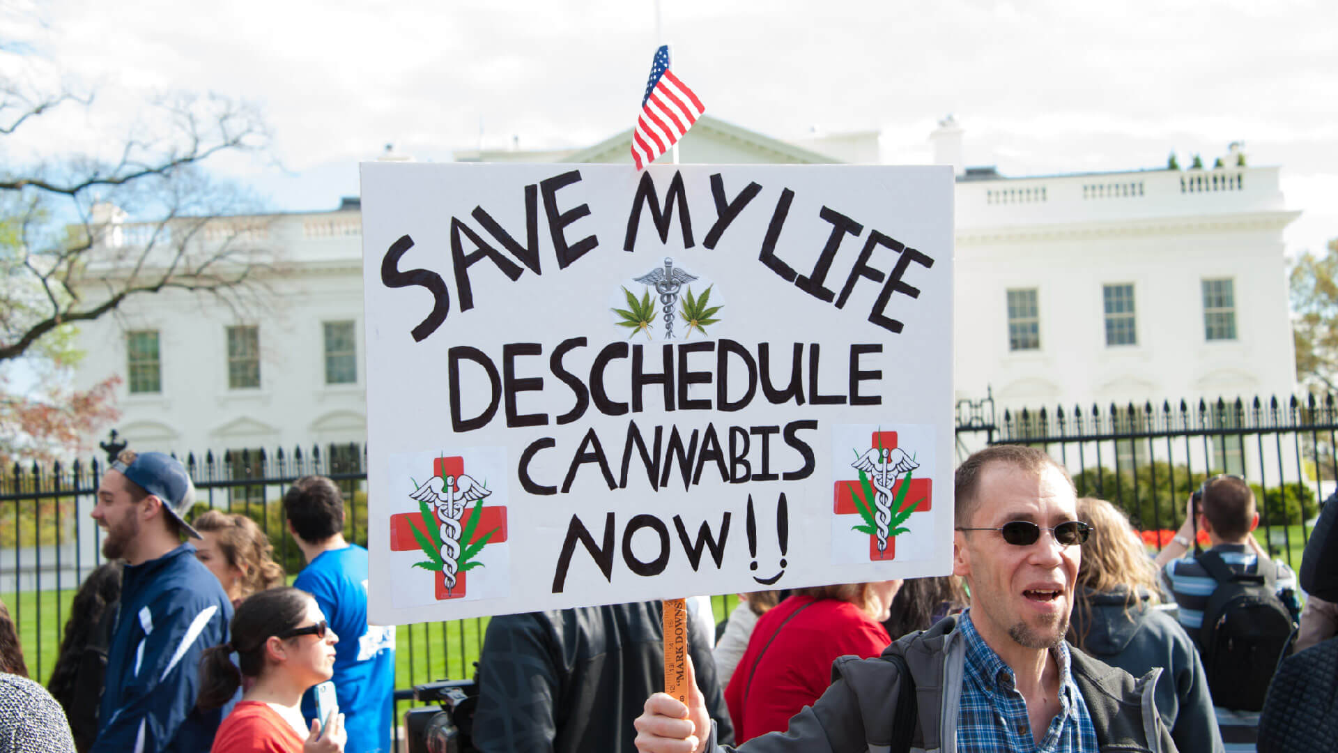 Marijuana legalization protest.