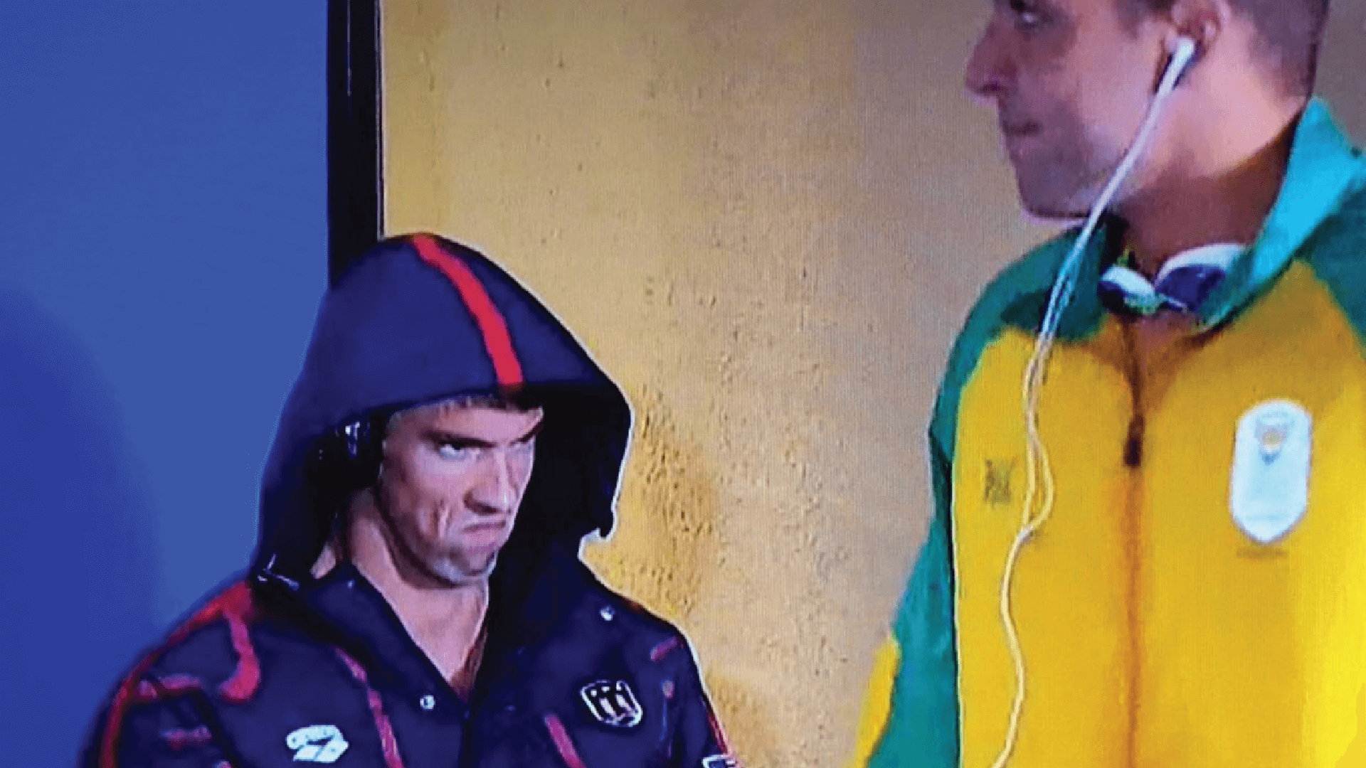 Michael Phelps throwing a stank face