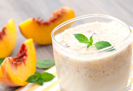 Peach Smoothie, peach and mint smoothie
