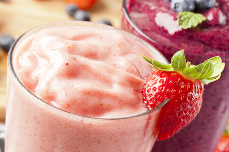 Strawberry smoothie, strawberry blended smoothie
