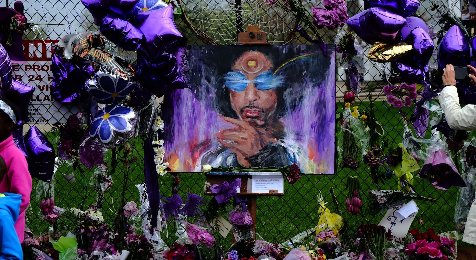 Prince Memorial Painting and Fence