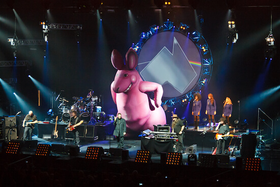 Pink Floyd, Pink Floyd playing a concert with an inflatable rabbit
