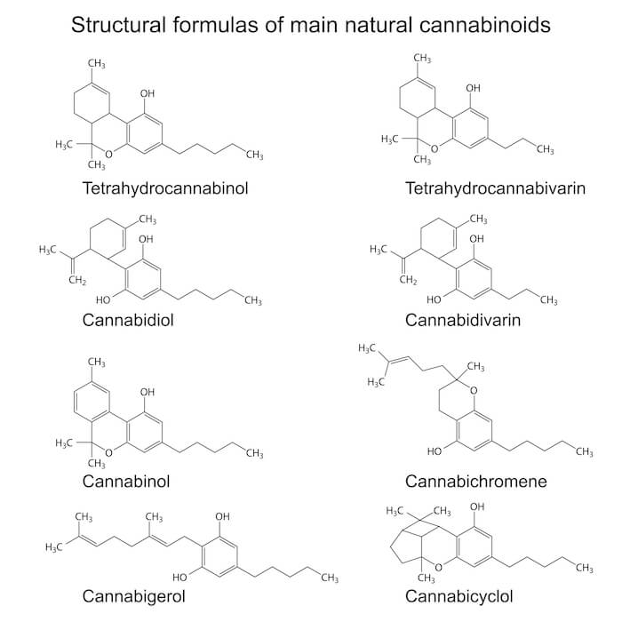 Structural Formulas of Main natural cannabinoids