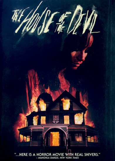 the-house-of-the-devil-poster, creepy house on fire