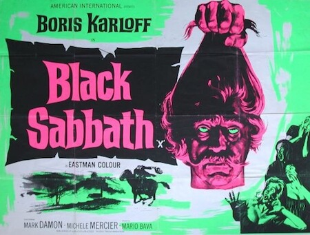 Black sabbath movie poster, decapitated man