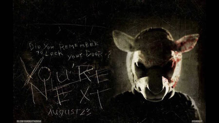 youre-next-poster-movie, killer wearing scary mask