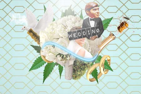 Marijuana_Boquet, cannabis wedding