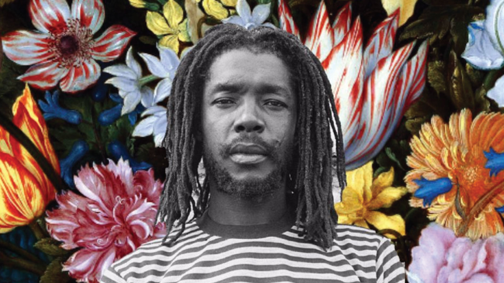 Peter Tosh looking at the camera.