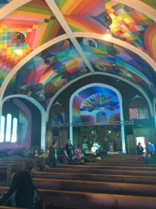 Inside of the cannabis church