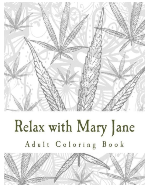 Adult cannabis coloring book