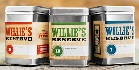 Willie's Reserve tin cans