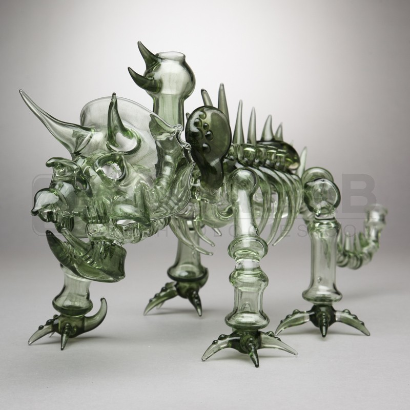 Look at this dino glass