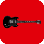 Red AC/DC Gibson SG cannabis strain icon
