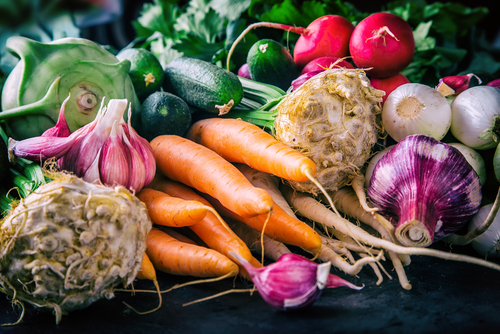 Stock up on vegetables instead of junk food