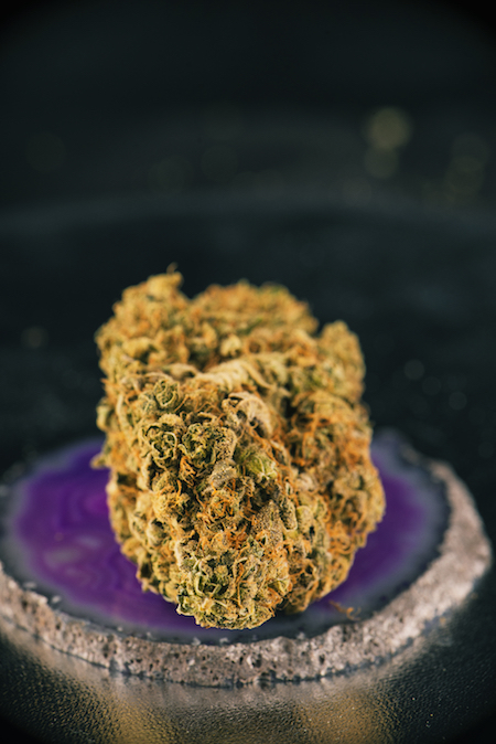 Close of a marijuana nug
