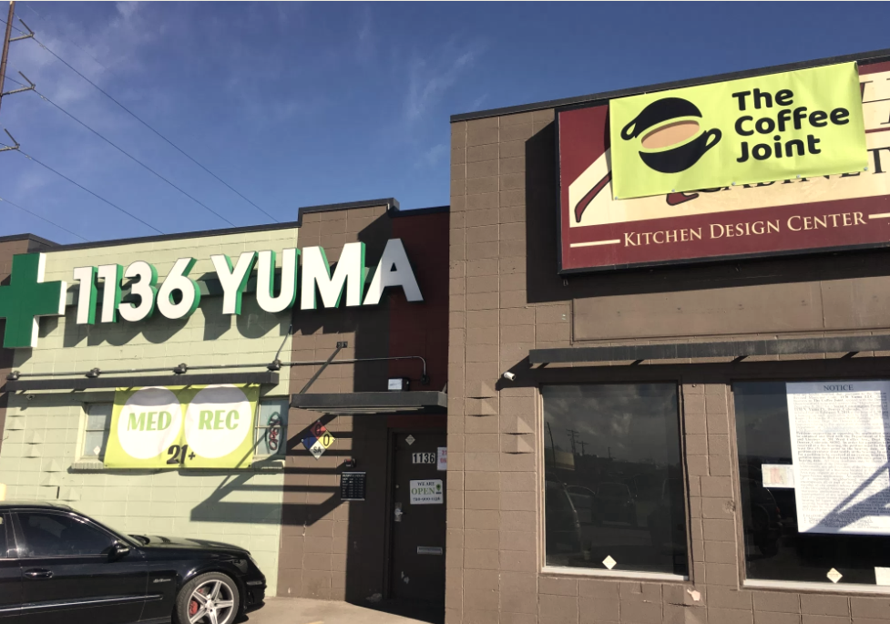 The Coffee Joint is located next to a dispensary run by the same owners