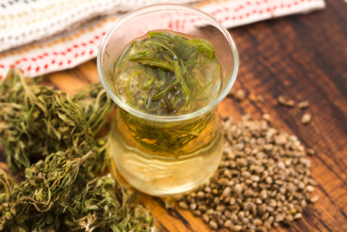 Cannabis tea needs fat to activate the thc
