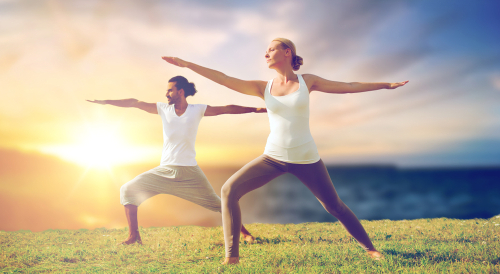High yoga is an option on the retreat