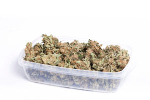 We don't recommend storing your cannabis in a plastic container