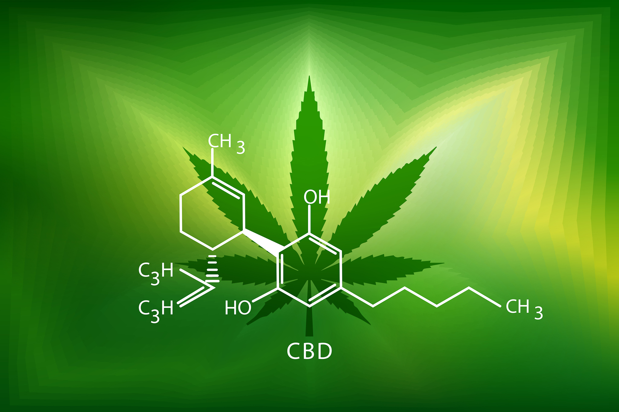 Chemical formula for CBD
