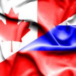 Russian and Canadian flags