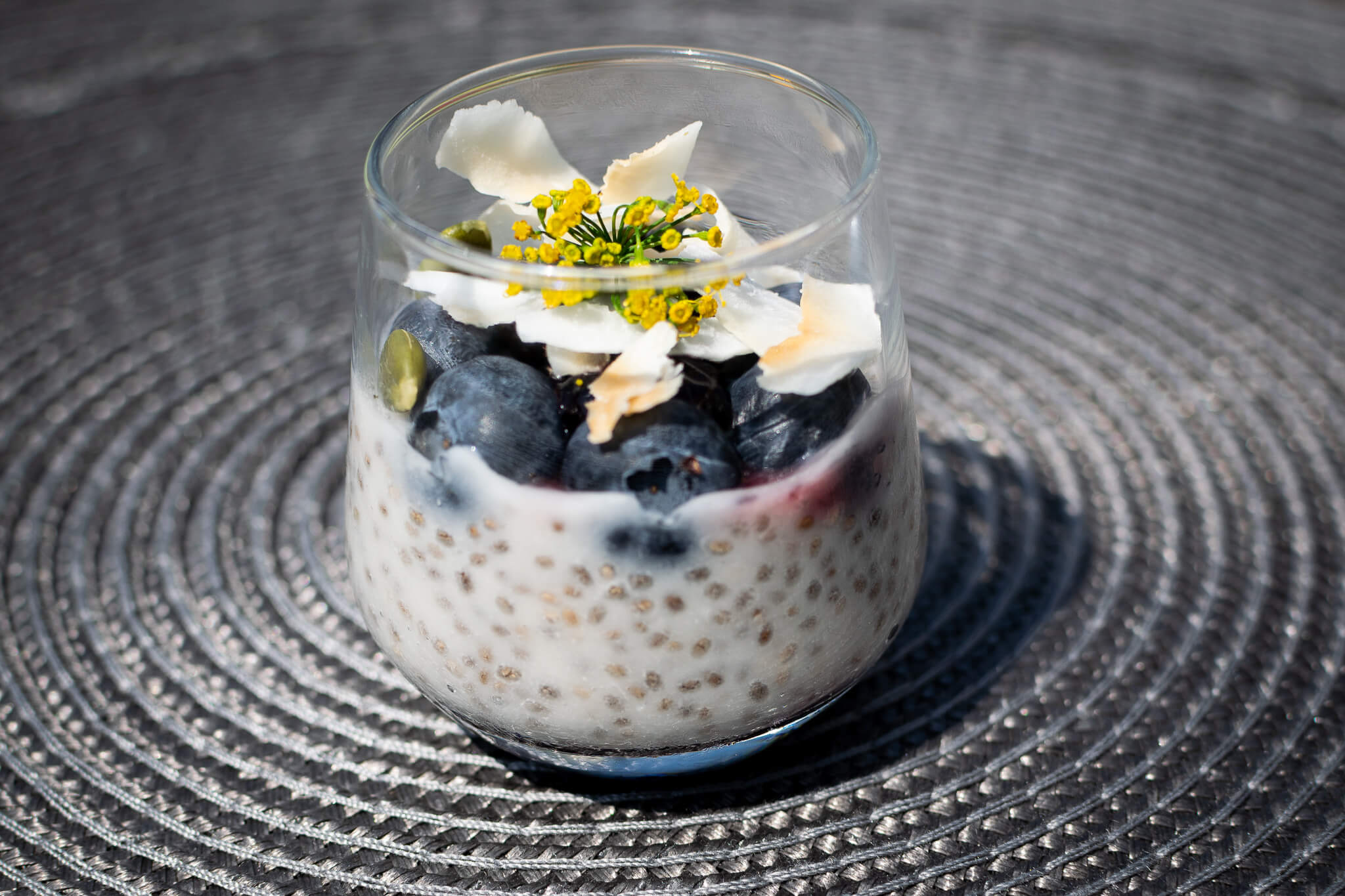 Chia and berry parfait
