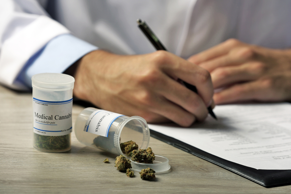 Doctor prescribing medical cannabis
