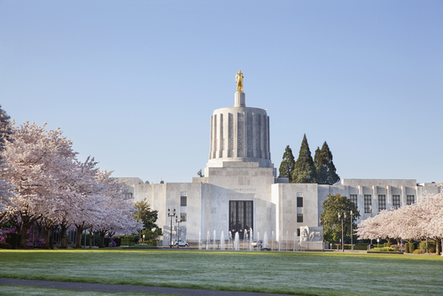The Oregon capitol bulding