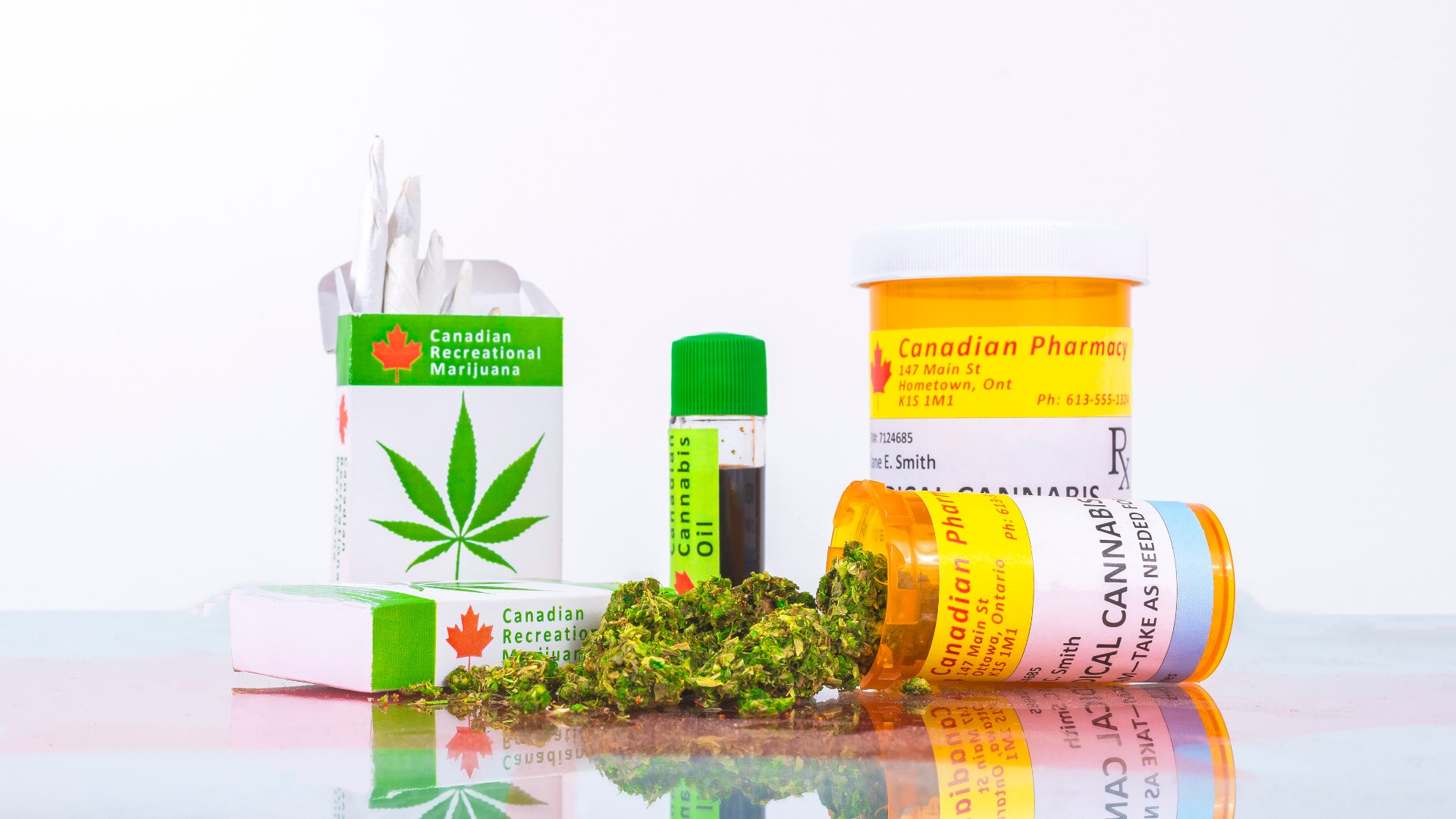 Medical cannabis bottles and prescription bottles