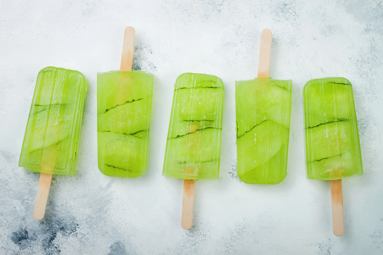 Green popsicles, cannabis pops