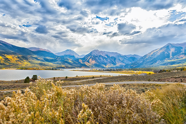 Beautiful and majestic Twin Lakes, Colorado, sits at the base of the highest peak of Mount Elbert (HDR Processing).