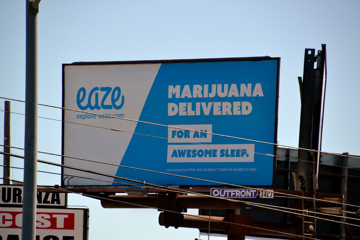 Cannabis delivery in California
