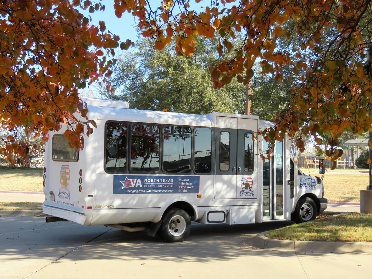 VA bus for veterans health appointments