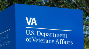 sign at the department of veterans affairs