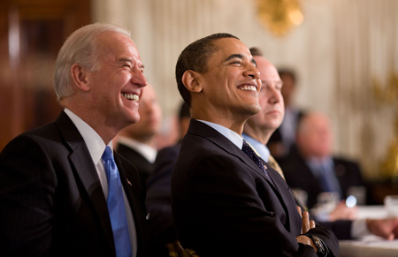 Biden and Obama in the White House