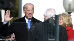 Joe Biden being sworn in