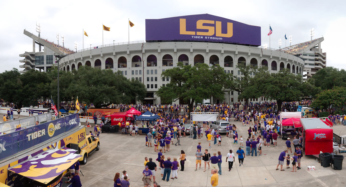 Baton Rouge, USA - 2014: Tiger Stadium, Louisiana State University's Football stadium, can hold more than 100,000 people.