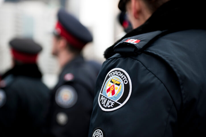 Close up of a Toronto Police uniform.