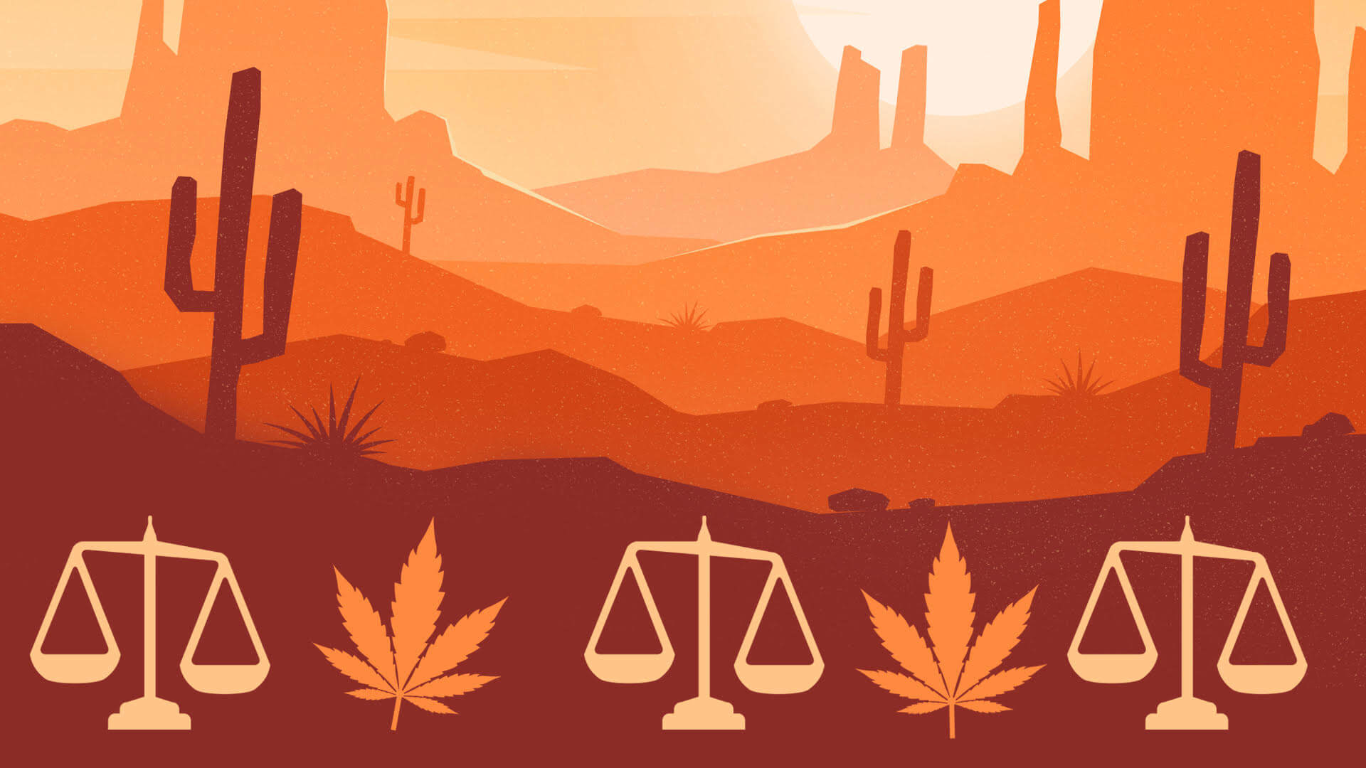 Cannabis laws in desert states.