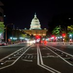 Washington D.C. at night, aba