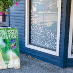 Cannabis dispensary storefront.