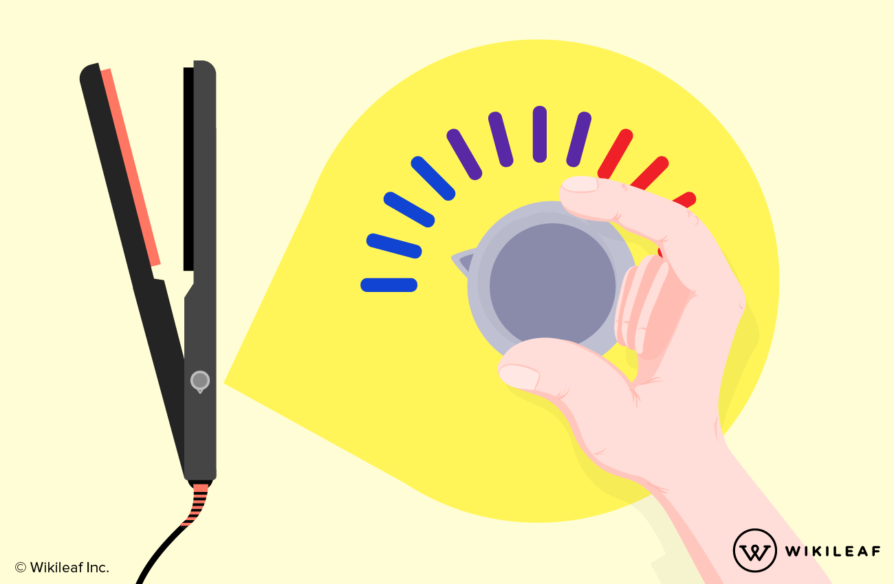 Set the temperature on your straightener