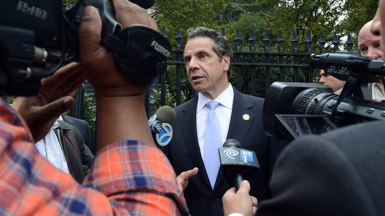 New York governor, Andrew Cuomo answer reporter's questions