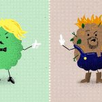 Good weed vs bad weed illustration
