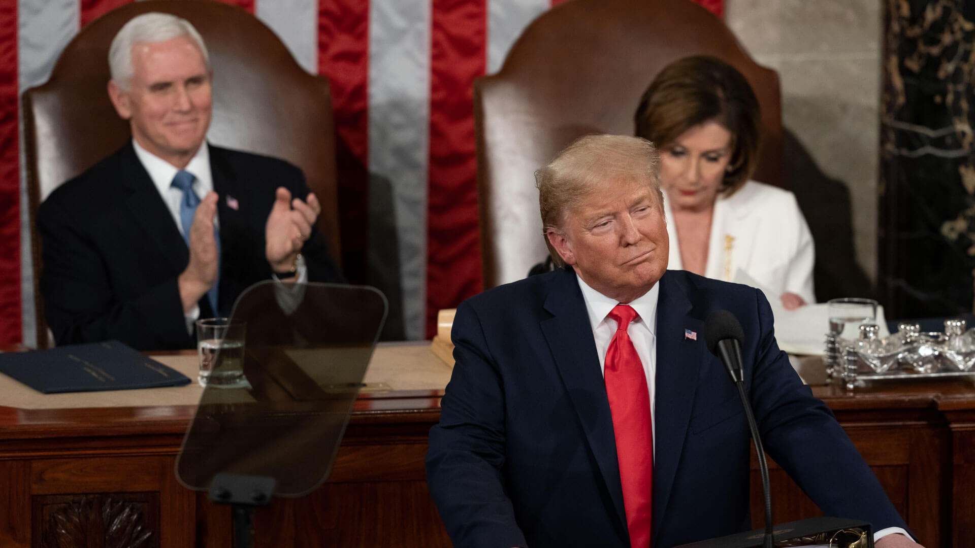 Trump during the 2020 State of the Union