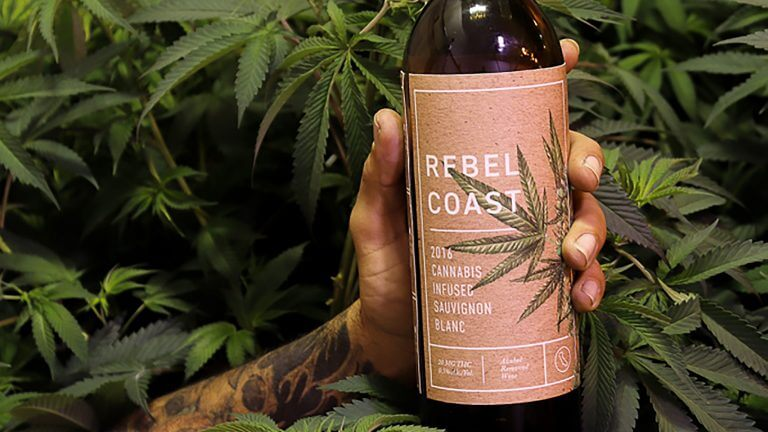Red cannabis wine by Rebel Coast