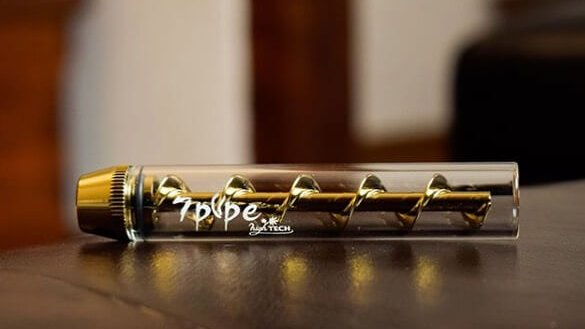 A Twisty Pipe by 7Pipe on a table