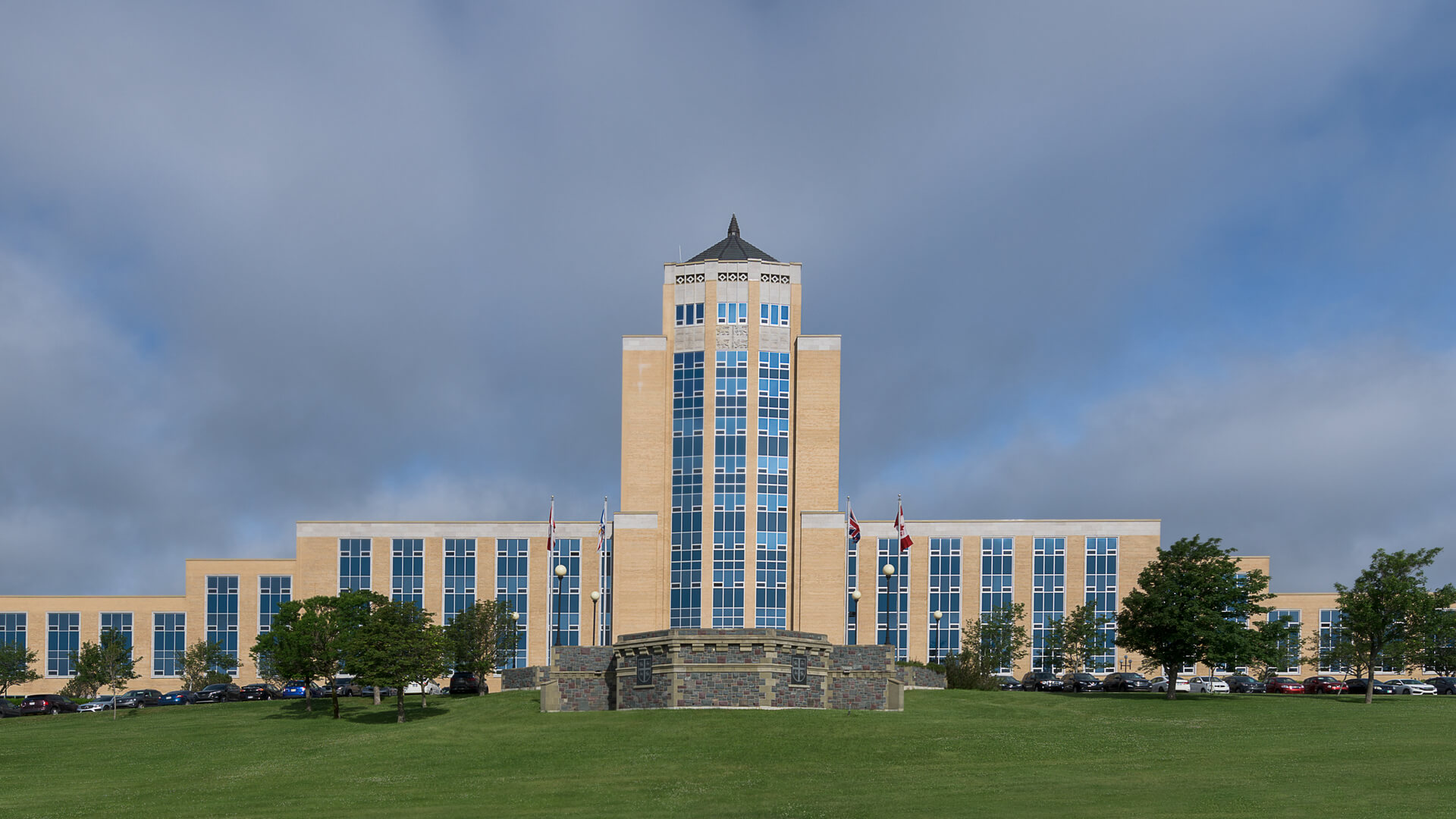 Confederation Building on a clear day in St.Johns