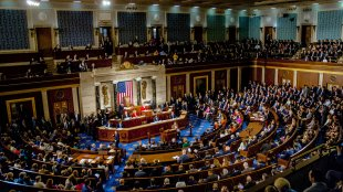 The House of Representatives filled with congressional members